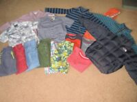 Complete wardrobe of clothes for 5 year old boy