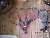 8 childrens Tennis Rackets