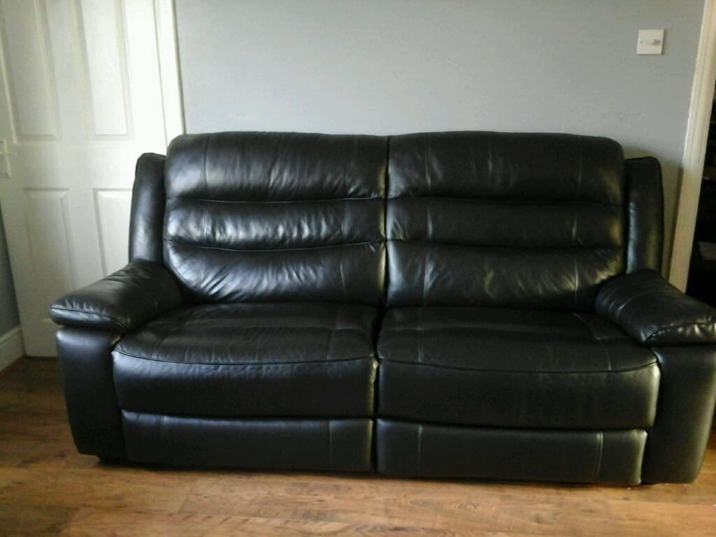 Cool Black Leather Look Sofa In Netley Abbey Hampshire Gumtree Ibusinesslaw Wood Chair Design Ideas Ibusinesslaworg