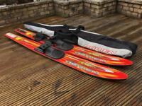 O'Brien celebrity water skis and ski handle