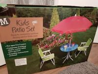 Kids outdoor patio set BRAND NEW IN BOX