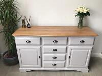 Solid oak / wooden sideboard / chest/ cupboard