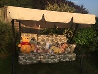 3 Seater Garden swing chair with all weather Cover