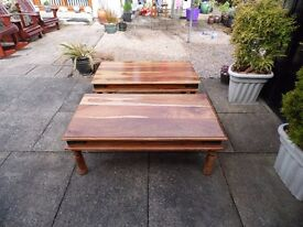 Two wooden Coffee Tables for sale size
