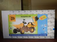 £99 - NEW ROLLY JCB RIDE ON PEDAL TRACTOR with BACK HOE DIGGER 2-5 years - DUMPERKID JCB