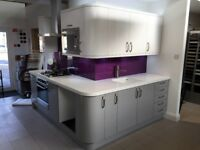 Ex Display Chippendale Kitchen - Technica Gloss Grey & White with worktop and appliances