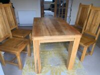 Mango dining table and chairs