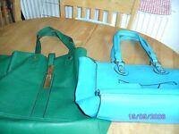 2 x Handbags 1 Green and 1 Blue £5.00 each