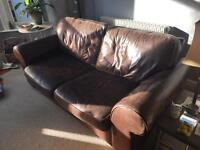 Sofa brown leather