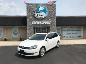 2012 Volkswagen Golf Wagon Highline WITH NAV AND PANO  ROOF.