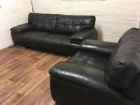 Italian leather sofa and chair (free delivery)