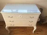 Louis style chest of drawers Kidney shaped Dressing Table and stool