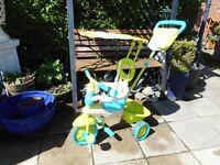 safari trike with parent handle