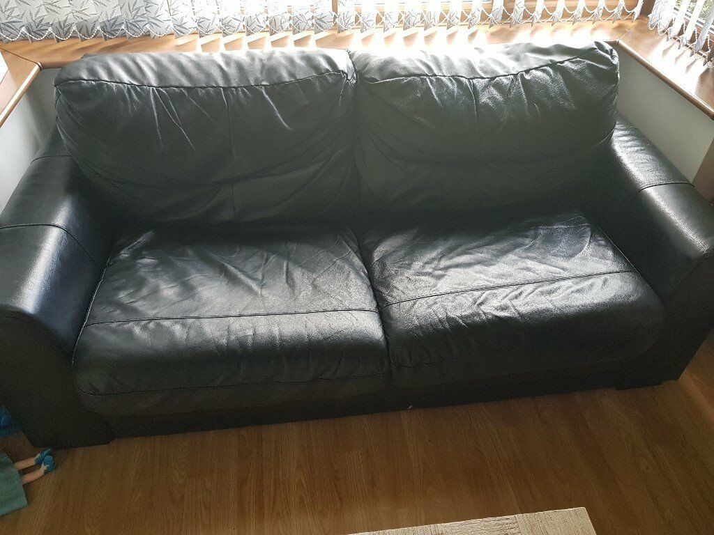Großartig Sofa 150 Cm Galerie Von 3 Seater Genuine Leather Bed (200cm)+ 2