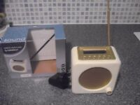 SAINSBURY'S CREAM/GOLD DAB/FM RETRO DIGITAL RADIO