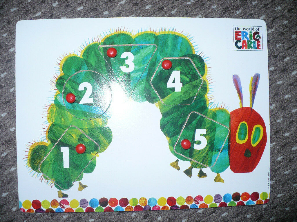 Wooden Toys The Very Hungry Caterpillar Peg Puzzle by Rainbow Designs. Excellent condition.