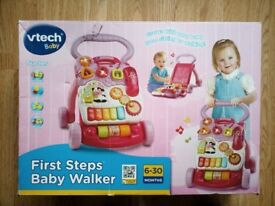 VTech First Steps Baby Walker Pink + Box + Batteries (One week used only)