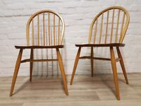 Pair Of Ercol Windsor Dining Chairs (DELIVERY AVAILABLE)