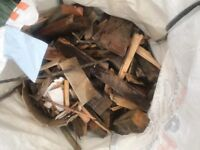 Free builders sack of assorted pieces of wood and timber