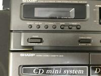 Sharp speakers with CD system