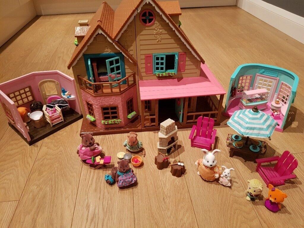 Woodzeez House Set Bundle Ideal For Lol Dolls Or Sylvanian Families