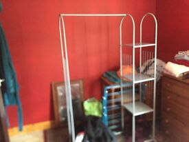 Clothes stand without cover
