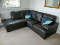 HARVEYS BROWN LEATHER LEFT FACING CORNER SOFA - MUST GO TODAY TODAY - CHEAP DELIVERY - £260