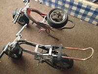 2x Mini Motor bike frames. Offers accepted