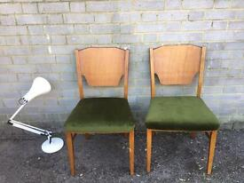PAIR GENUINE MIDCENTURY VINTAGE ENGLISH CHAIRS FREE DELIVERY 🇬🇧