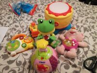 Variety of baby interactive toys