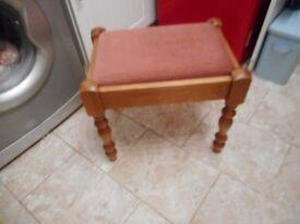 vintage pine dressing table stool