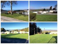 Cheap 3 bedroom double glazed and central heated caravan for sale in west Wales