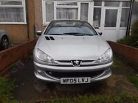PEUGEOT COUP206 CONVERTIBLE 2005