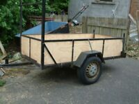 car trailer steel floor with wood sides