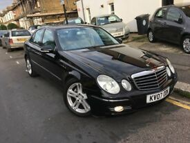 MERCEDES BENZ E CLASS E280 3.0 ADVANTGARDE 2007 BLACK HALF LEATHER FOLDING MI...