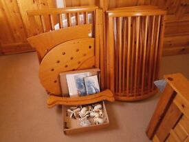 Stokke Sleepi Mini Crib, Cot & Junior Bed (All 3 Cots Included) In Natural Cherry