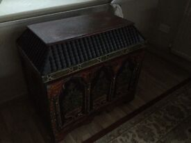 Old ornate Czech blanket box