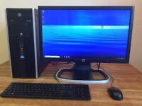"GAMING PC HP - i5 3570 3.40ghz / 8GB / Geforce 9600 GT / USB 3.0 + 22"" HD Monitor Desktop Computer"