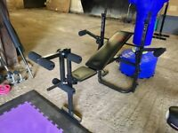 MULTI FUNCTION WEIGHT BENCH - Gym Fitness Equipment - WITH INSTRUCTIONS