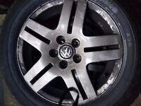 """Mk4 golf alloy wheels 15"""" 5x100 pcd"""