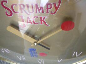 Breweriana England cricket promo wall clock - Man Cave Pub memorabilia