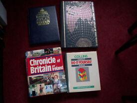 Job Lot of Old Hardback Reference Books