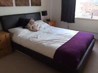 Dreams upholstered king size black bed frame