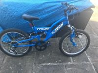 """Blue Trax TFS 20 bicycle bike 16"""" wheels and 6 gears Age 6-9"""