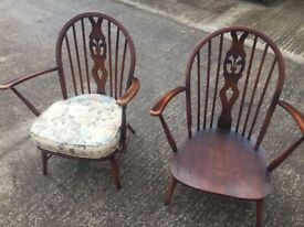 Pair of ercol easy chairs