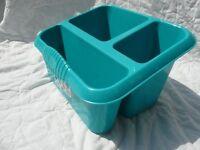 Teal Green Plastic Kitchen Sink Tidy / Washing Up Organiser / Caddy / Rack
