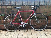 Holdsworth Reynolds 531 Men's Road Bike Classic Vintage Red, Brooks Saddle