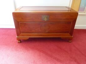ROSEWOOD CAMPHOR LINED STORAGE CHEST