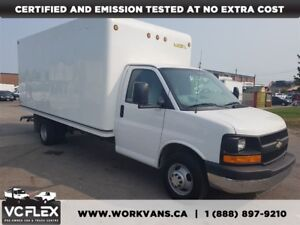 2014 Chevrolet Express 3500 G3500 16Ft Unicell Box + Ramp - CERT