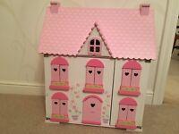 ELC dolls house rosebud cottage including furniture, hardly used